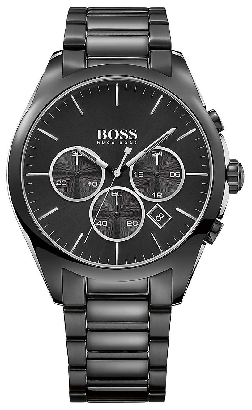 Hugo Boss Onyx Herrklocka 1513365 Svart/Stål Ø44 mm - Hugo Boss