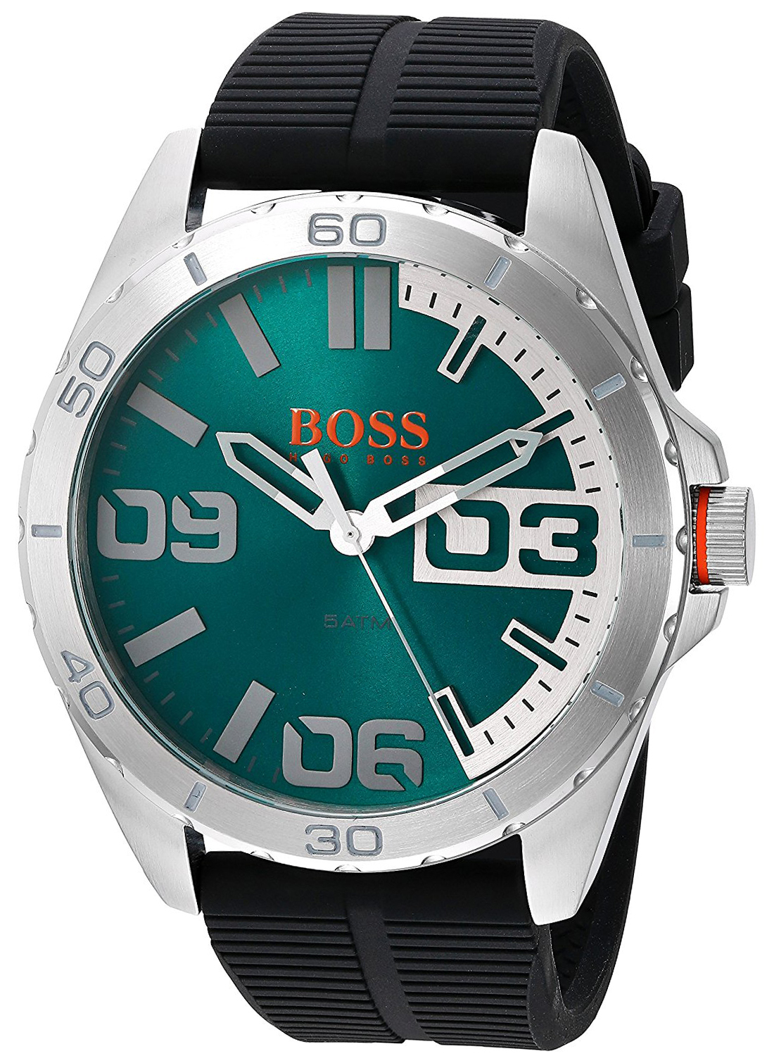 Hugo Boss Berlin Herrklocka 1513381 Grön/Gummi Ø48 mm - Hugo Boss