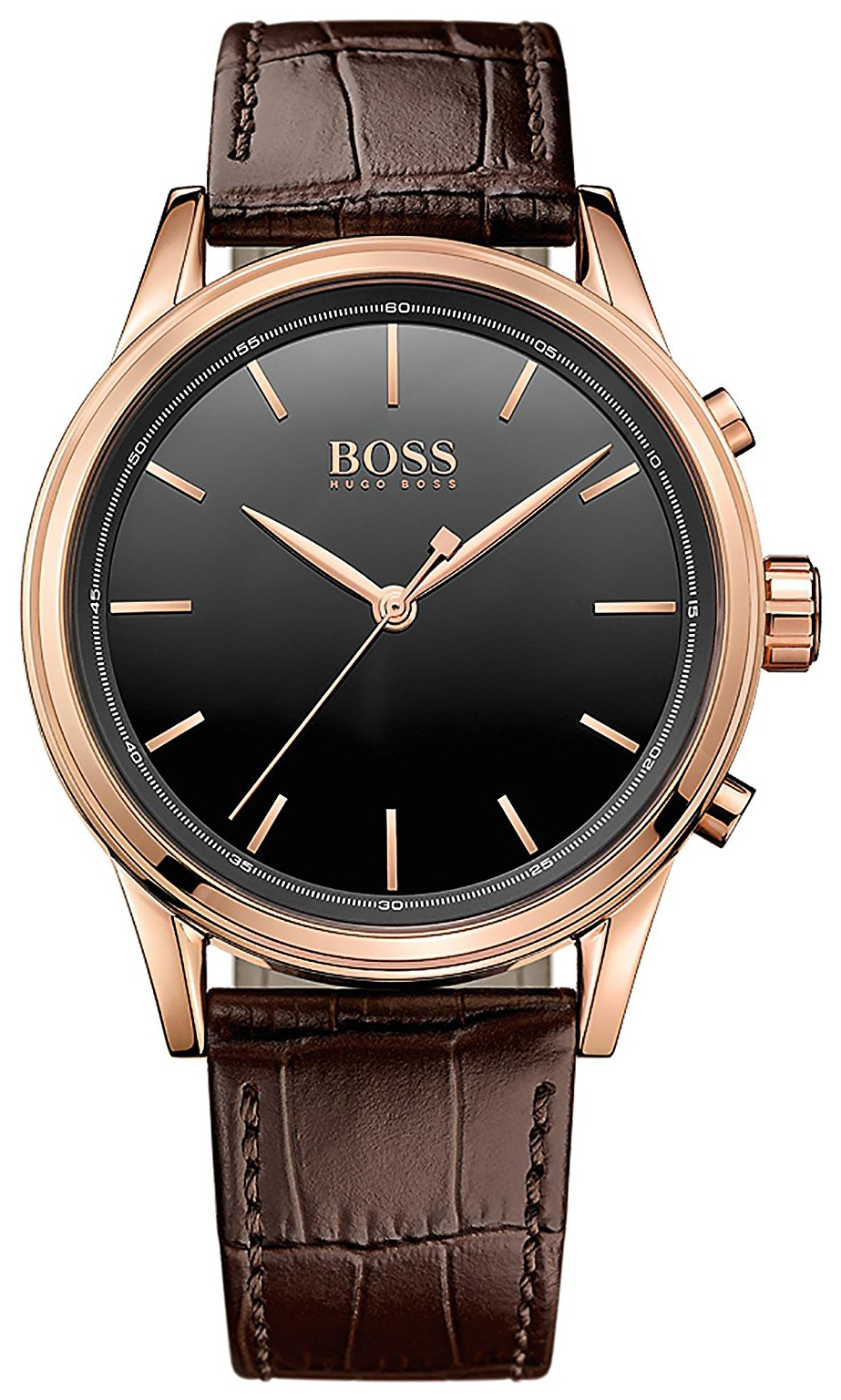 Hugo Boss Smart Herrklocka 1513451 Svart/Läder Ø44 mm - Hugo Boss