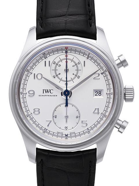 IWC Portuguese Herrklocka IW390403 Silverfärgad/Läder Ø42 mm - IWC