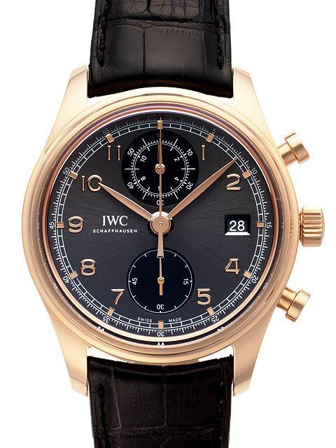 IWC Portuguese Herrklocka IW390405 Grå/Läder Ø42 mm - IWC