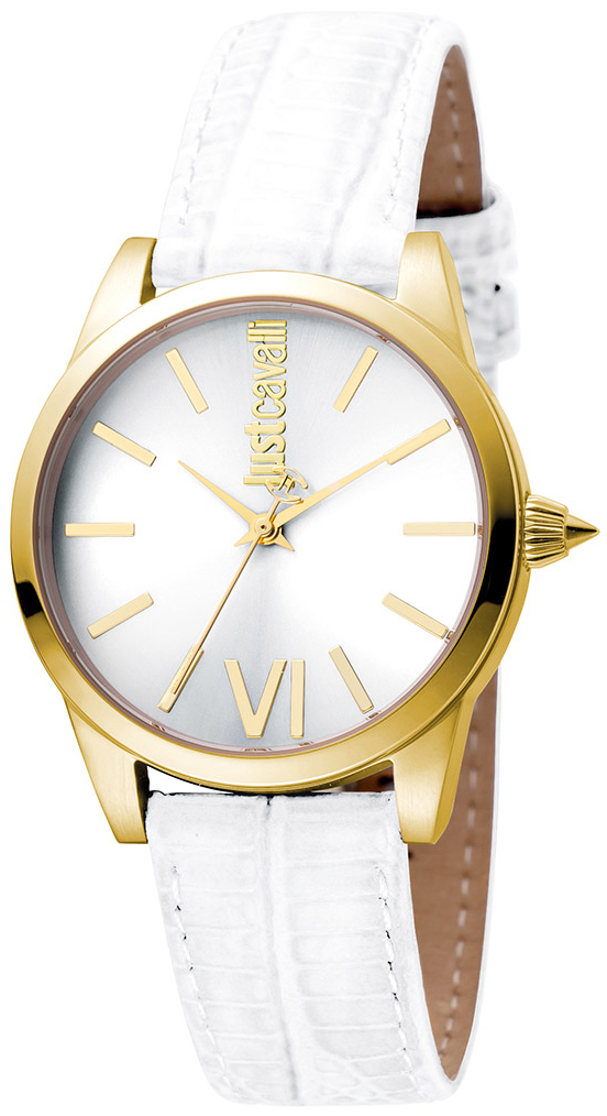Just Cavalli Relaxed Damklocka JC1L010L0055 Silverfärgad/Läder Ø32 mm - Just Cavalli