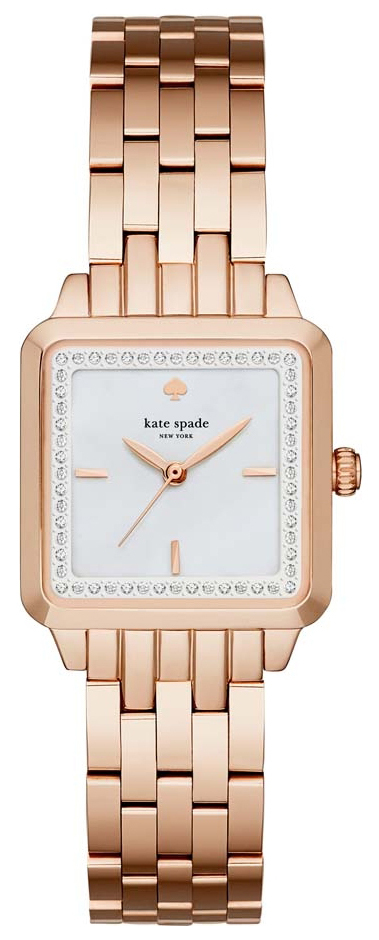 Kate Spade 99999 Damklocka KSW1132 Vit/Roséguldstonat stål - Kate Spade