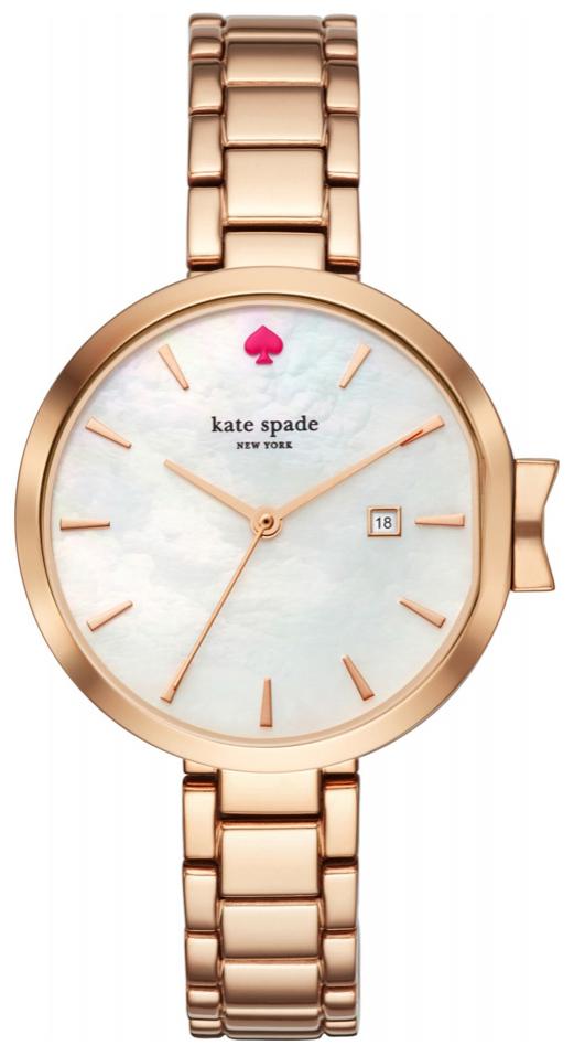 Kate Spade 99999 Damklocka KSW1323 Vit/Roséguldstonat stål Ø34 mm - Kate Spade