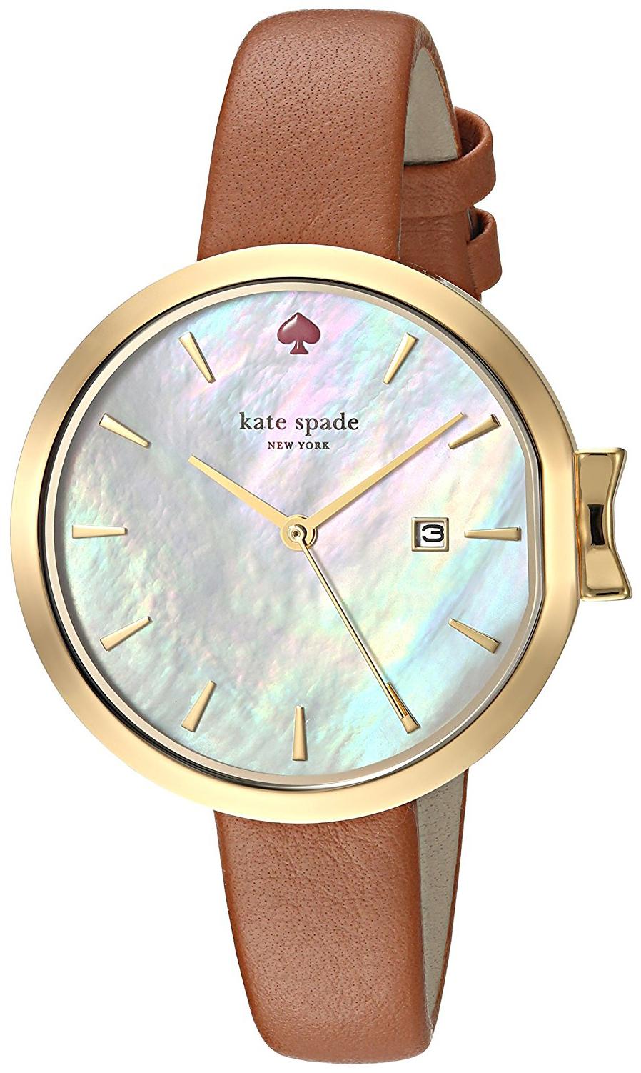 Kate Spade 99999 Damklocka KSW1324 Silverfärgad/Läder Ø34 mm - Kate Spade