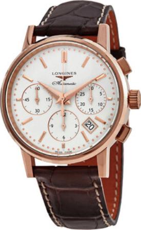 Longines Heritage Herrklocka L2.733.8.72.2 Silverfärgad/Läder Ø39 mm - Longines