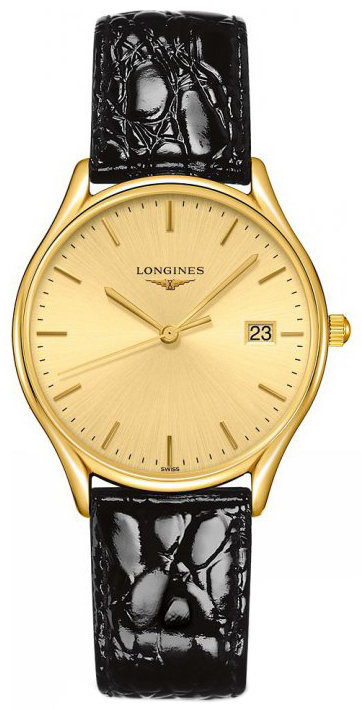 Longines Grande Classique Damklocka L4.359.2.32.2 Gulguldstonad/Läder - Longines