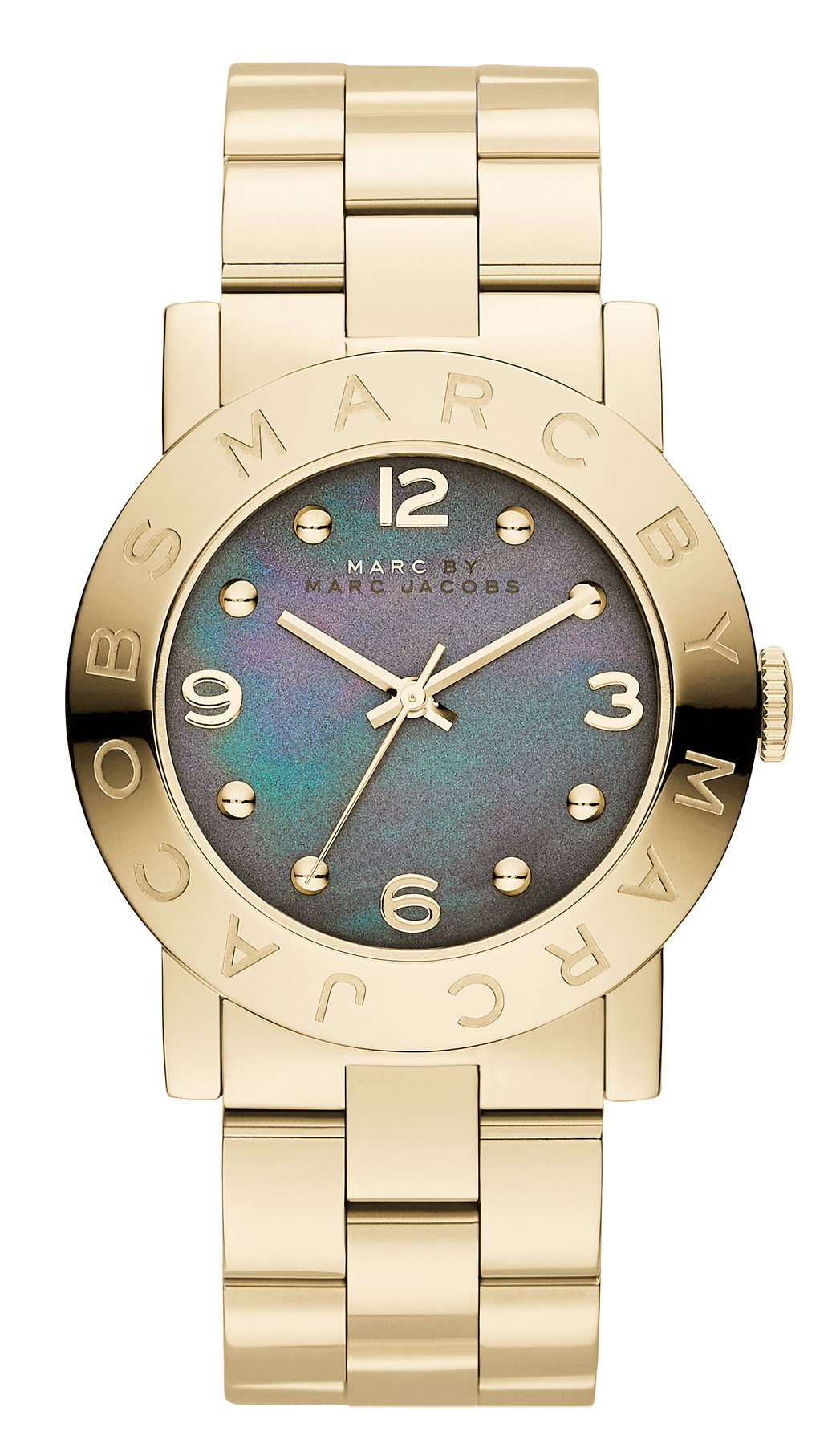 Marc by Marc Jacobs Amy Damklocka MBM3273 Grå/Gulguldtonat stål Ø36.5 mm - Marc by Marc Jacobs