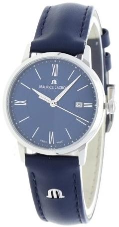 Maurice Lacroix Eliros Damklocka EL1094-SS001-410-1 Blå/Läder Ø30 mm - Maurice Lacroix