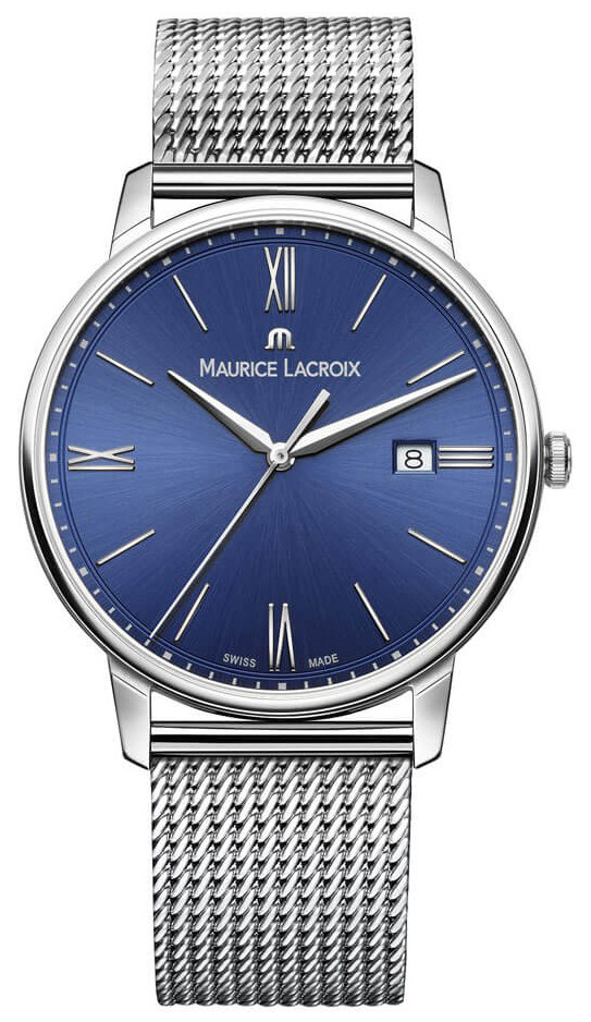 Maurice Lacroix Eliros Date Herrklocka EL1118-SS002-410-1 Blå/Stål Ø40 - Maurice Lacroix
