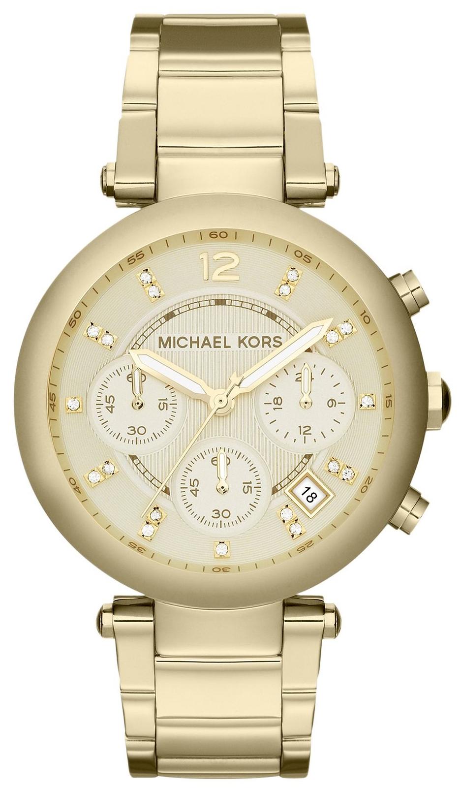 Michael Kors Parker Damklocka MK5701 Champagnefärgad/Guldtonat stål Ø39 - Michael Kors