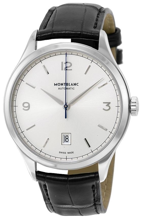 Montblanc Meisterstück Herrklocka 112533 Silverfärgad/Läder Ø40 mm - Montblanc