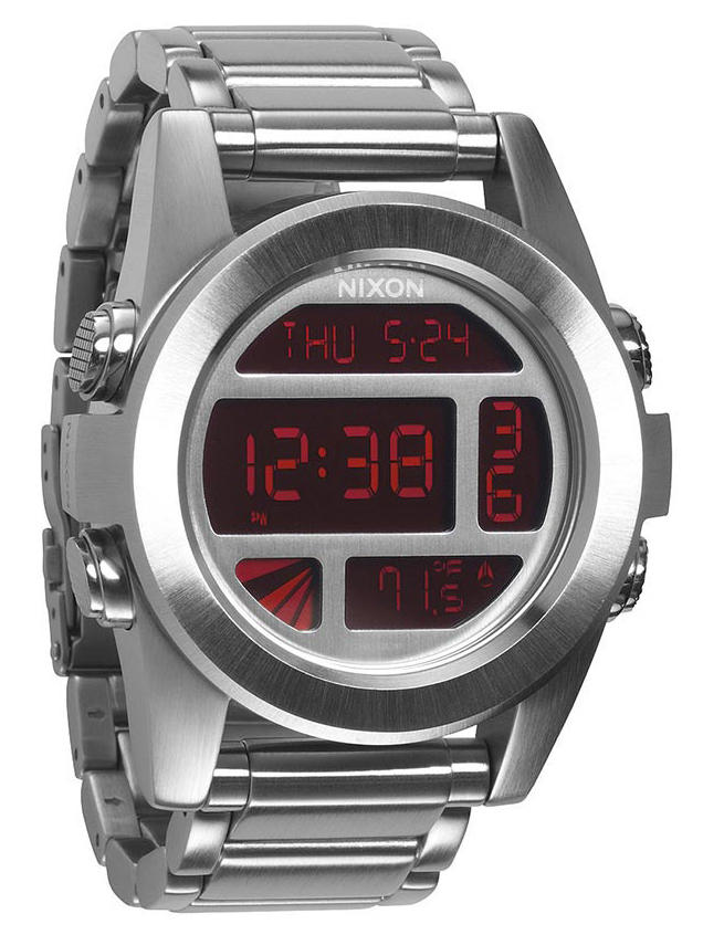 Nixon The Unit Herrklocka A3601263-00 LCD/Stål Ø50 mm - Nixon
