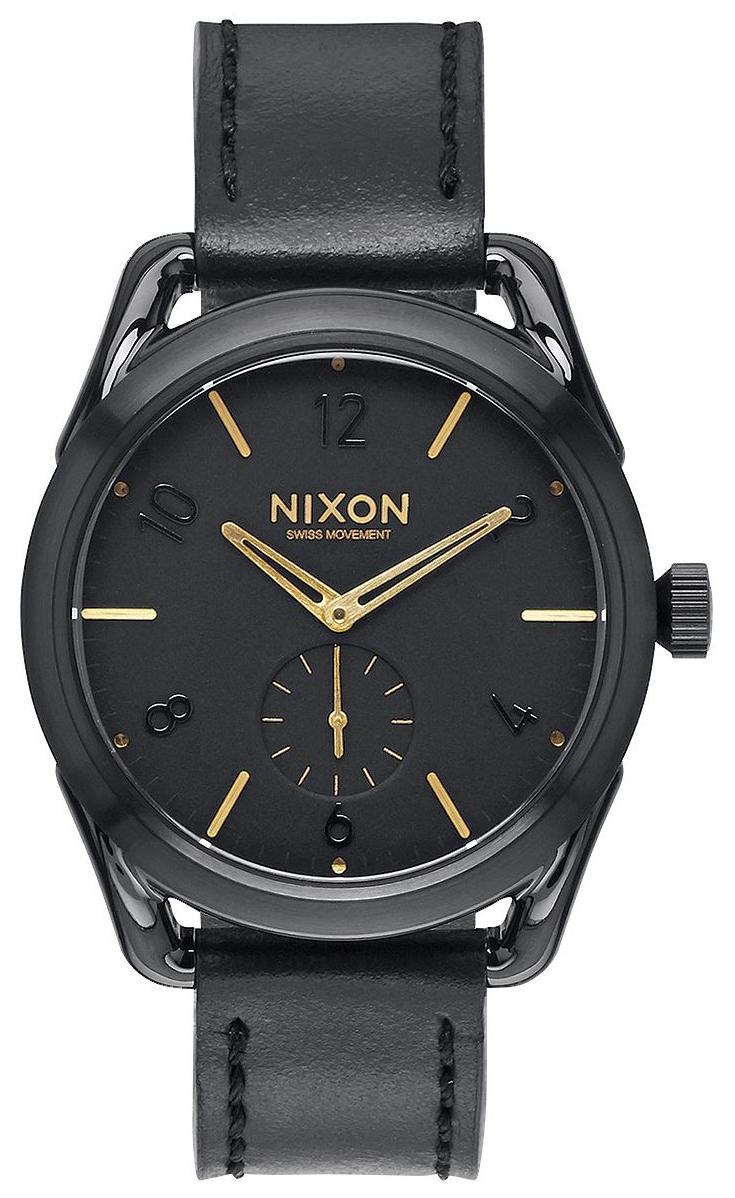 Nixon 99999 Herrklocka A459010-00 Svart/Läder Ø38 mm - Nixon