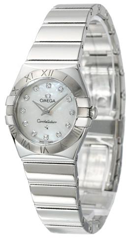 Omega Constellation Quartz 24mm Damklocka 123.10.24.60.55.002 Vit/Stål - Omega