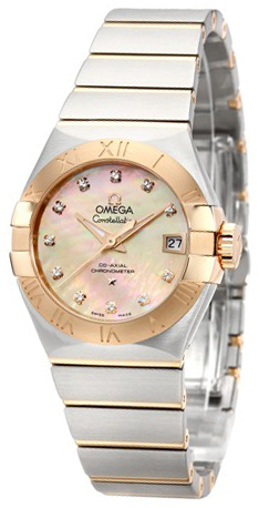 Omega Constellation Co-Axial 27mm Damklocka 123.20.27.20.57.001 Brun/Stål - Omega