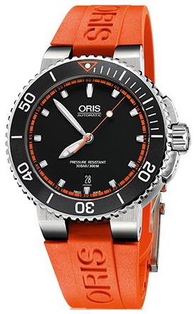 Oris Diving Herrklocka 01 733 7653 4128-07 4 26 32EB Svart/Gummi Ø43 mm - Oris