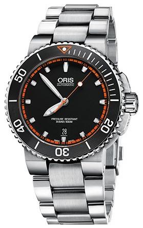 Oris Diving Herrklocka 01 733 7653 4128-07 8 26 01PEB Svart/Stål Ø43 mm - Oris