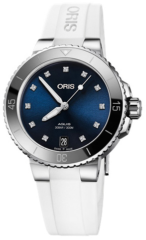 Oris Diving Damklocka 01 733 7731 4195-07 4 18 63FC Blå/Gummi Ø36.5 mm - Oris