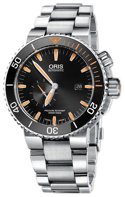 Oris Diving Herrklocka 01 743 7709 7184-Set MB Svart/Titan Ø46 mm - Oris