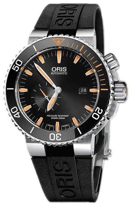 Oris Diving Herrklocka 01 743 7709 7184-Set RS Svart/Gummi Ø46 mm - Oris
