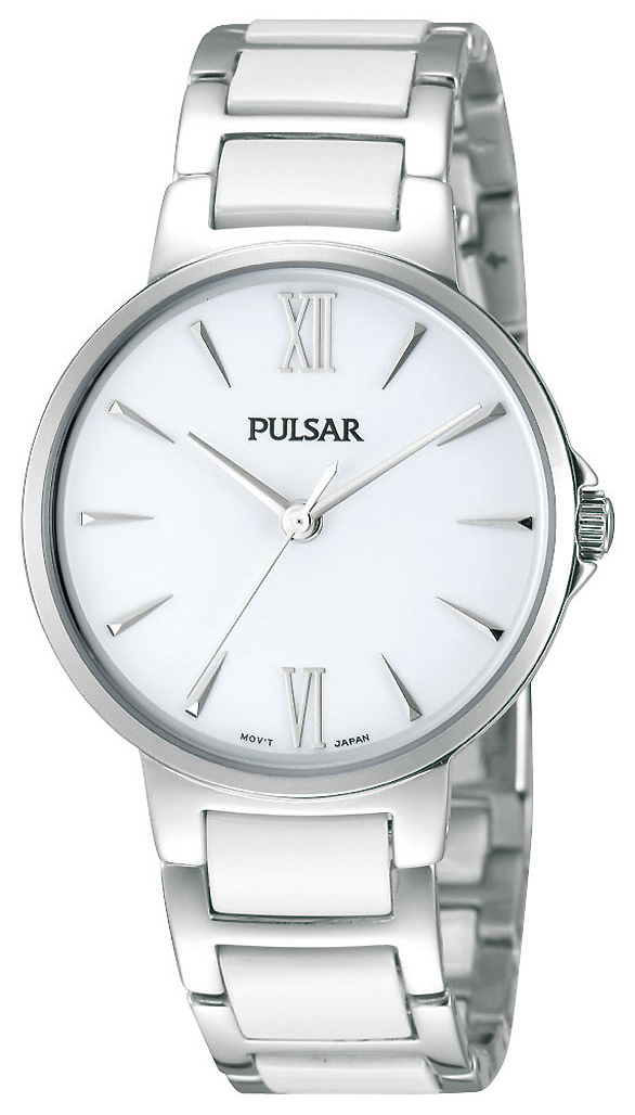 Pulsar Dress Damklocka PH8075X1 Vit/Stål Ø32 mm - Pulsar