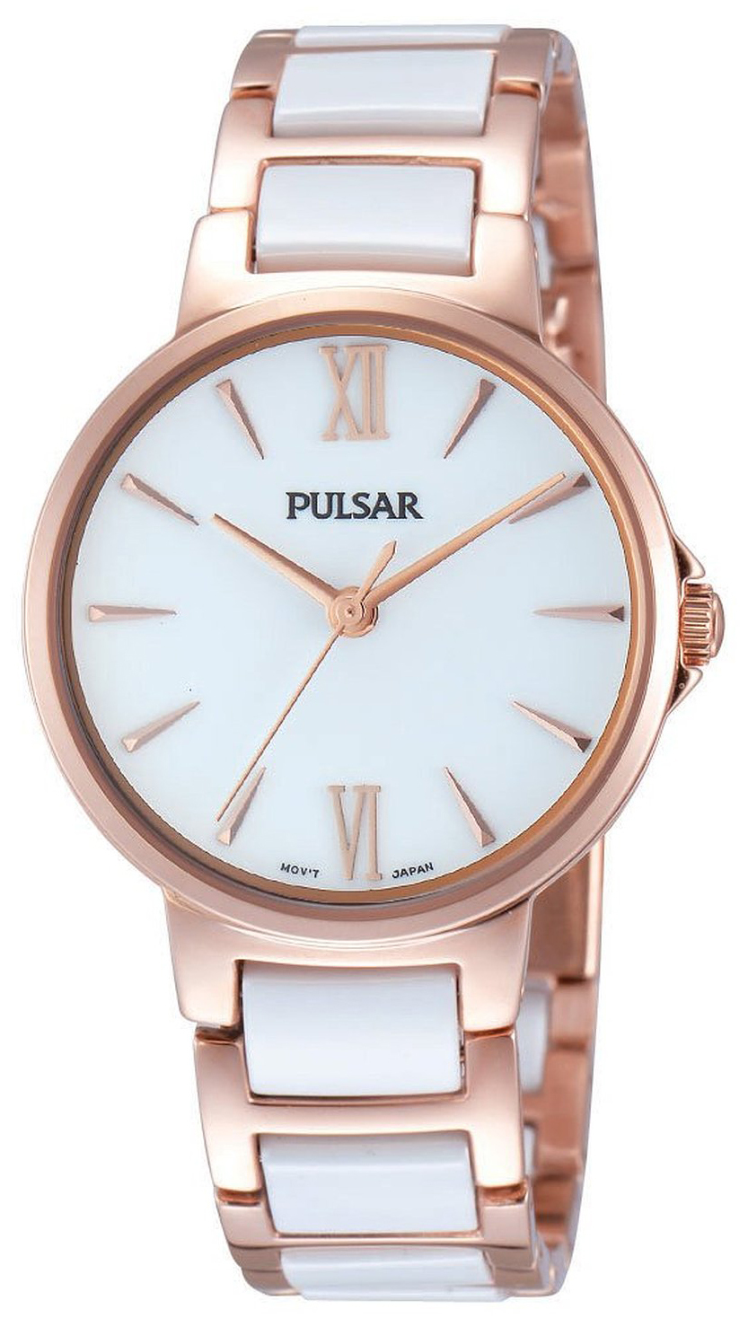 Pulsar Dress Damklocka PH8078X1 Vit/Roséguldstonat stål Ø32 mm - Pulsar