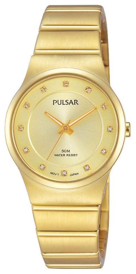 Pulsar Dress Damklocka PH8170X1 Gulguldstonad/Gulguldtonat stål Ø28 mm - Pulsar