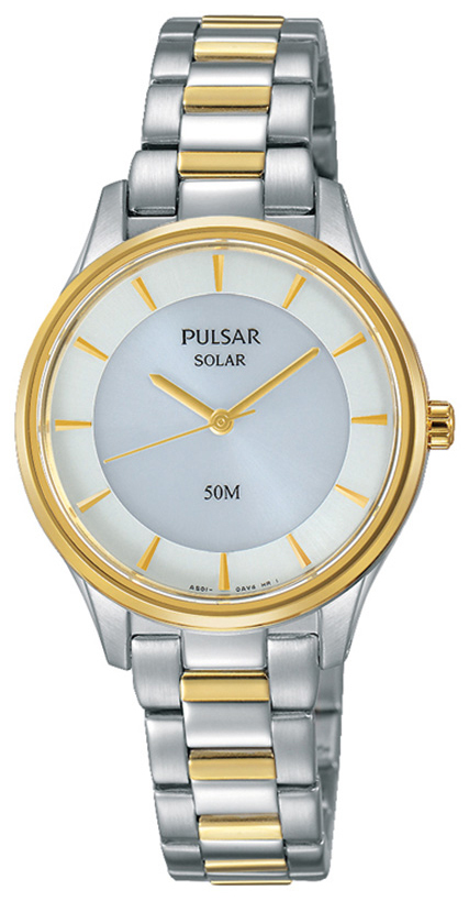 Pulsar Dress Damklocka PY5020X1 Vit/Gulguldtonat stål Ø29 mm - Pulsar