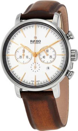 Rado Diamaster Herrklocka R14076106 Silverfärgad/Läder Ø45 mm - Rado