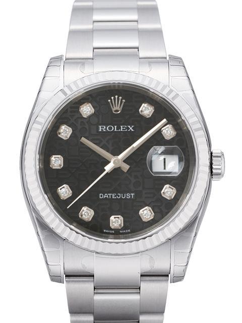 Rolex Datejust 36 Herrklocka 116234-0122 Svart/Stål Ø36 mm - Rolex