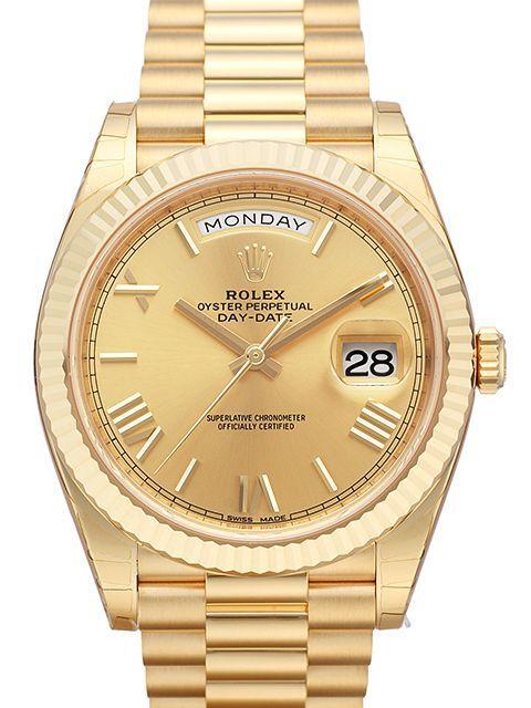 Rolex Day-Date 40 Herrklocka 228238-0006 Champagnefärgad/18 karat gult - Rolex