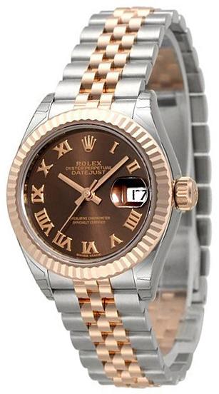 Rolex Lady-Datejust 28 Damklocka 279171-0009 Brun/18 karat roséguld Ø28 - Rolex