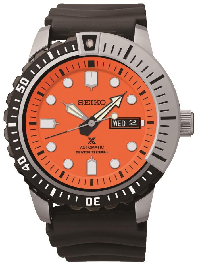 Seiko Divers Herrklocka SRP589K1 Orange/Gummi Ø45 mm - Seiko
