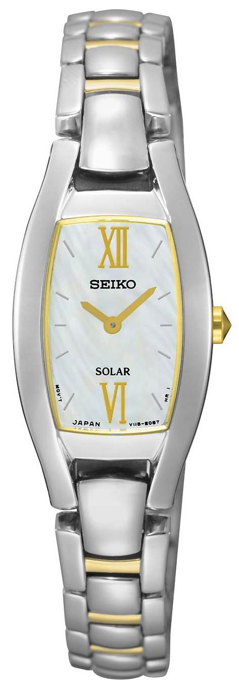 Seiko Solar Damklocka SUP312P1 Vit/Gulguldtonat stål - Seiko