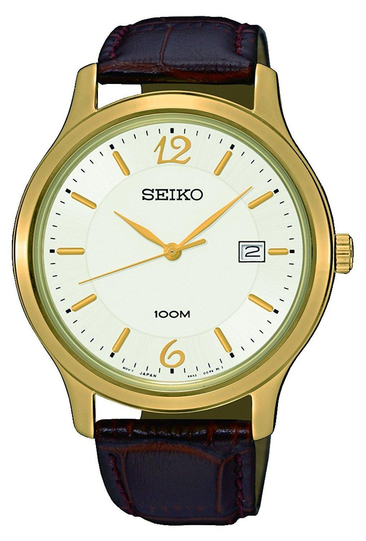 Seiko Dress Herrklocka SUR150P1 Vit/Läder Ø41 mm - Seiko