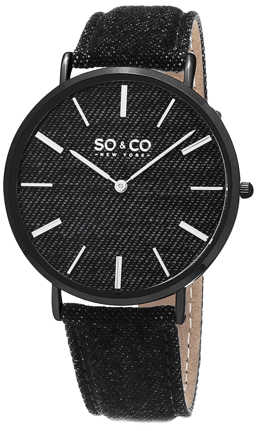 So & Co New York SoHo 5103.4 Svart/Läder Ø41 mm - So & Co New York