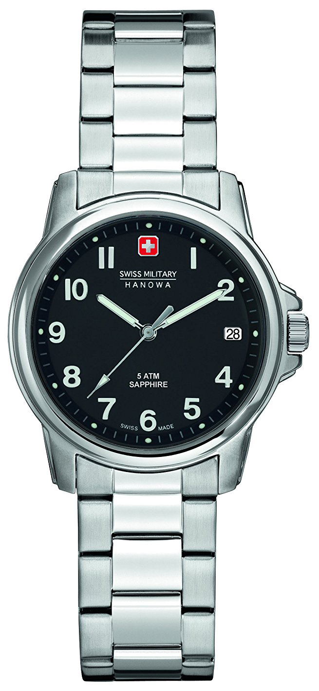 Swiss Military Dress Damklocka 06-7231.04.007 Svart/Stål Ø32 mm - Swiss Military