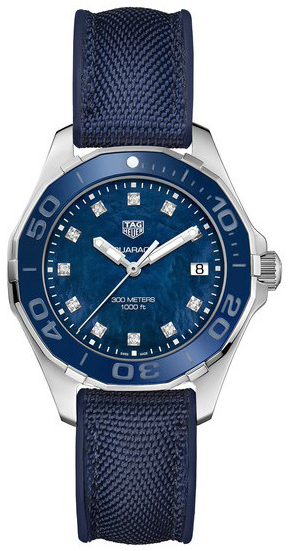 TAG Heuer Aquaracer Lady Damklocka WAY131L.FT6091 Blå/Gummi Ø35 mm - TAG Heuer
