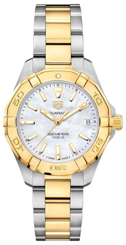 TAG Heuer Aquaracer Lady Damklocka WBD1320.BB0320 Vit/18 karat gult guld - TAG Heuer
