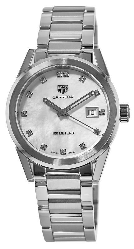 TAG Heuer Carrera Lady Damklocka WBG1312.BA0758 Silverfärgad/Stål Ø36 mm - TAG Heuer
