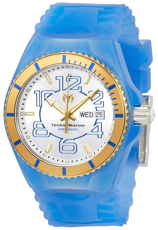 Technomarine Cruise Jellyfish Herrklocka TM-115143 Vit/Gummi Ø44 mm - Technomarine