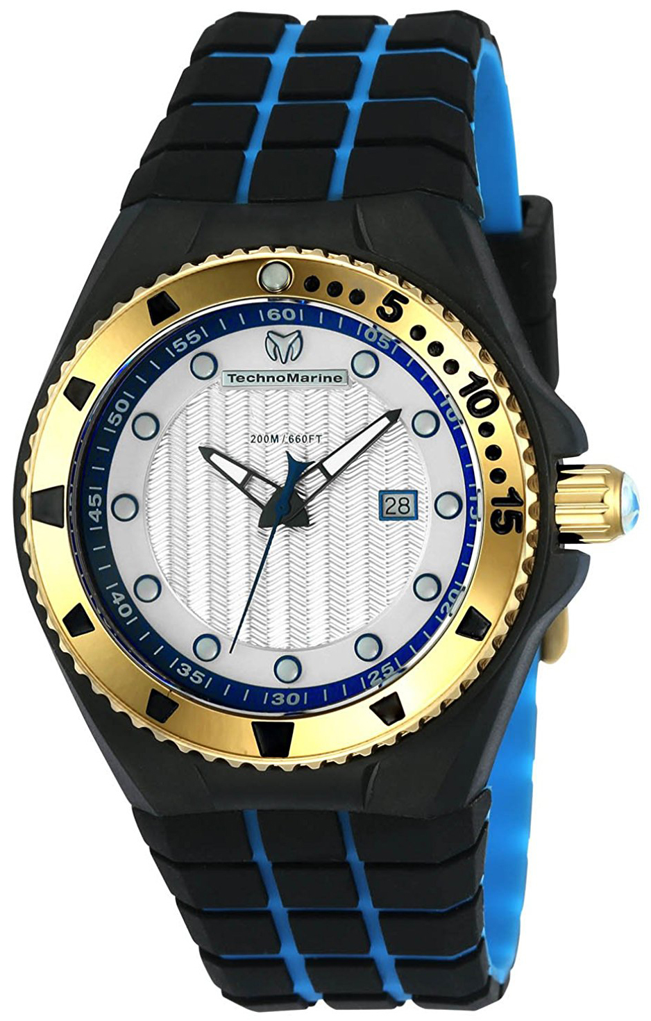 Technomarine Cruise Locker Herrklocka TM-115220 Silverfärgad/Gummi Ø45 mm - Technomarine
