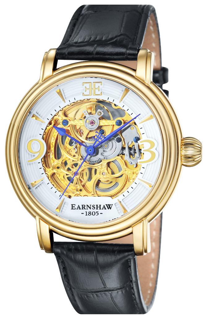 Thomas Earnshaw Longcase Herrklocka ES-8011-04 Vit/Läder Ø48 mm - Thomas Earnshaw