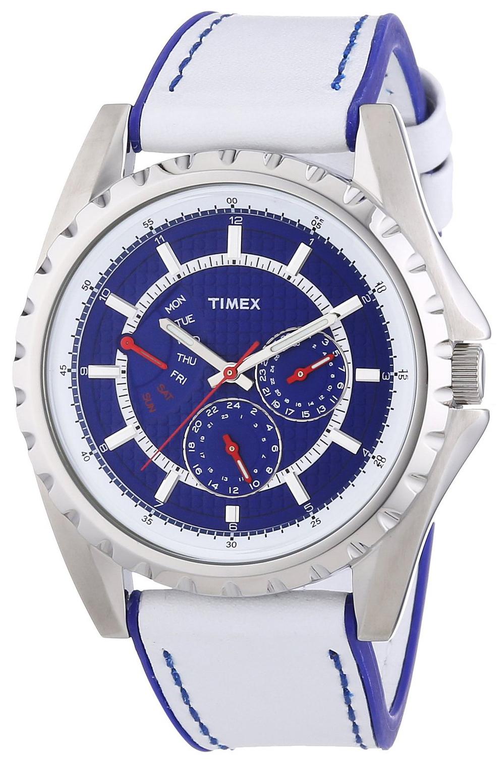 Timex 99999 Herrklocka T2N110 Blå/Läder Ø42 mm - Timex