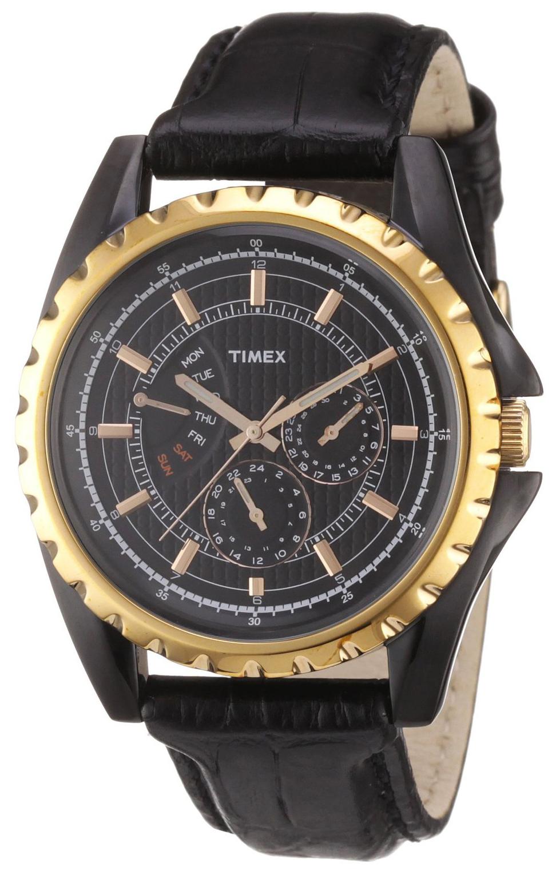 Timex 99999 Herrklocka T2N113 Svart/Läder Ø45 mm - Timex