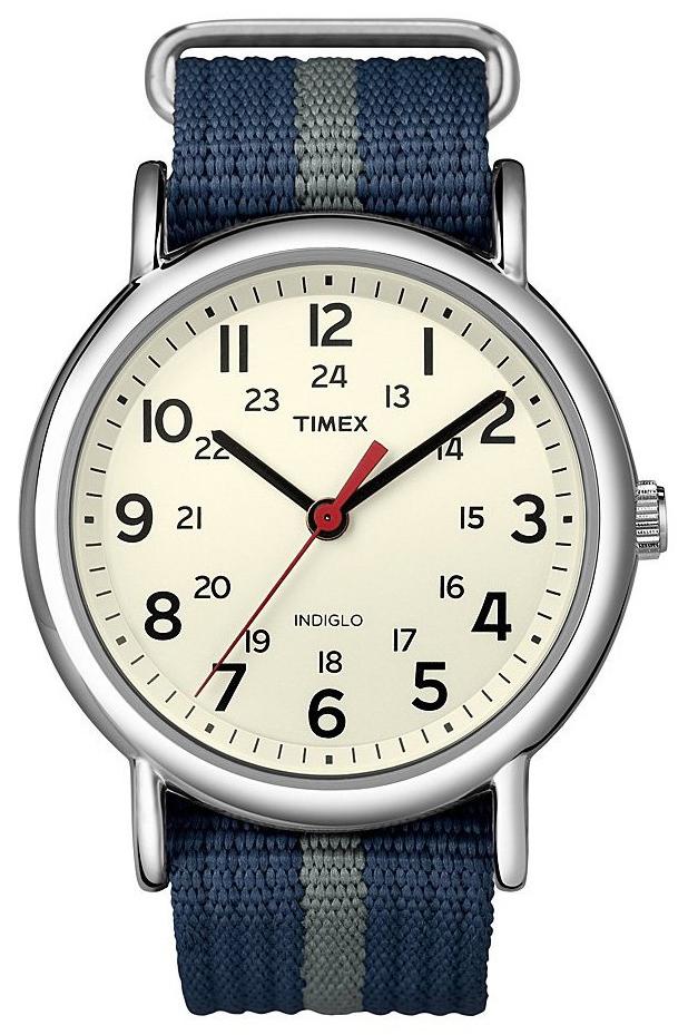 Timex Weekender T2N654PF Beige/Stål Ø38 mm - Timex