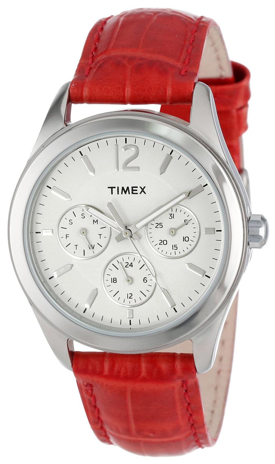 Timex Damklocka T2P069KW Vit/Läder Ø35 mm - Timex