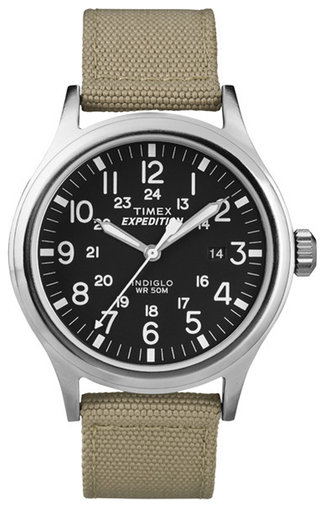 Timex Expedition Herrklocka T49962 Svart/Textil Ø40 mm - Timex