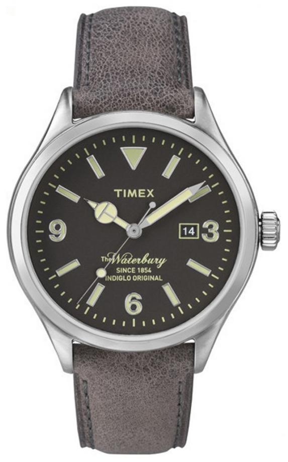 Timex 99999 Herrklocka TW2P75000 Svart/Läder Ø42 mm - Timex